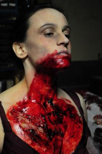Behind the scenes of the makeup process for INFECTIOUS. Special Effects by Julie LeShane.